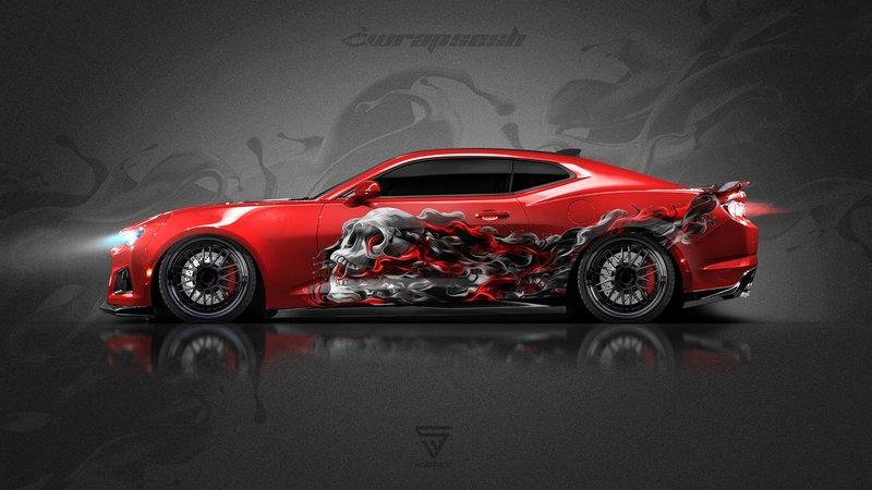 Chevrolet Camaro ZL1 - Skull design
