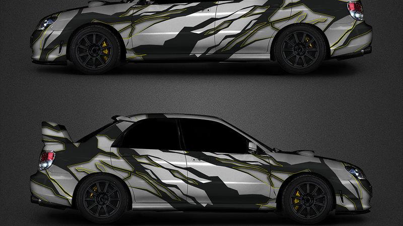 Subaru WRS - STI sport - design zebra