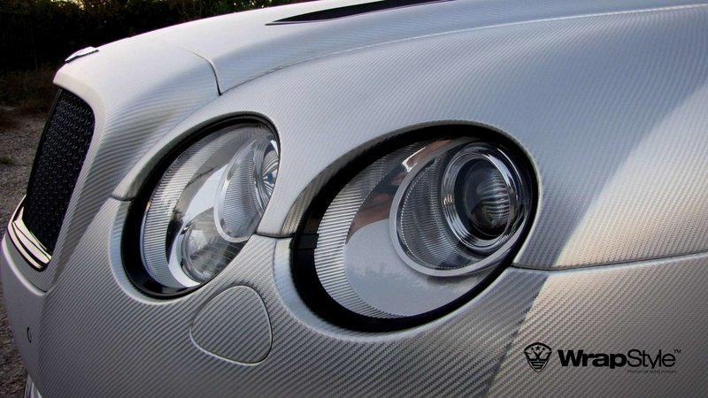 Bentley Continental - Silver Chrome Carbon wrap - img 3 small