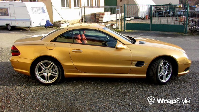Mercedes SL - Gold Gloss wrap - img 3 small