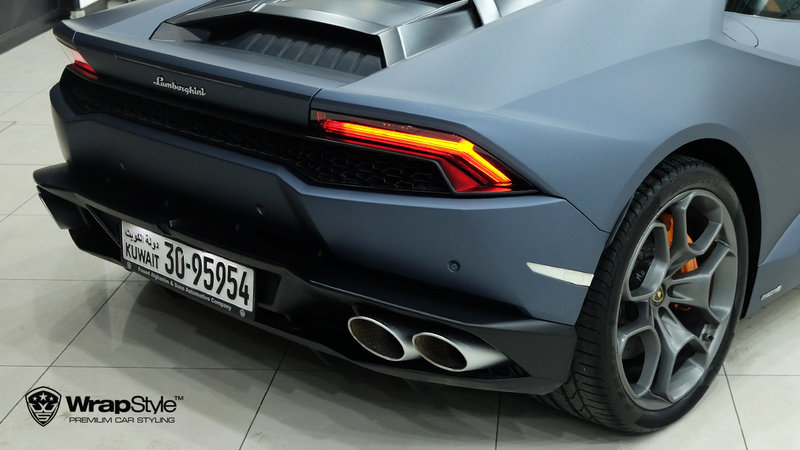 Lamborghini Huracan - Dark Blue Metallic wrap - img 1 small
