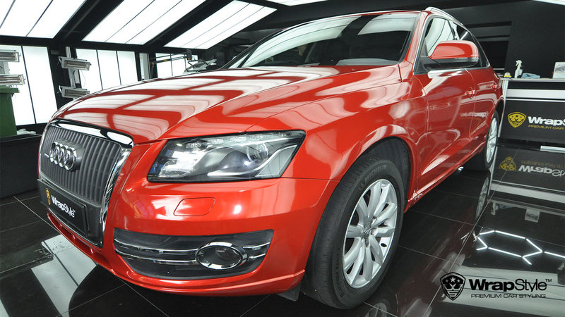 Audi Q5 - Dragon Fire Red Gloss wrap - img 1 small