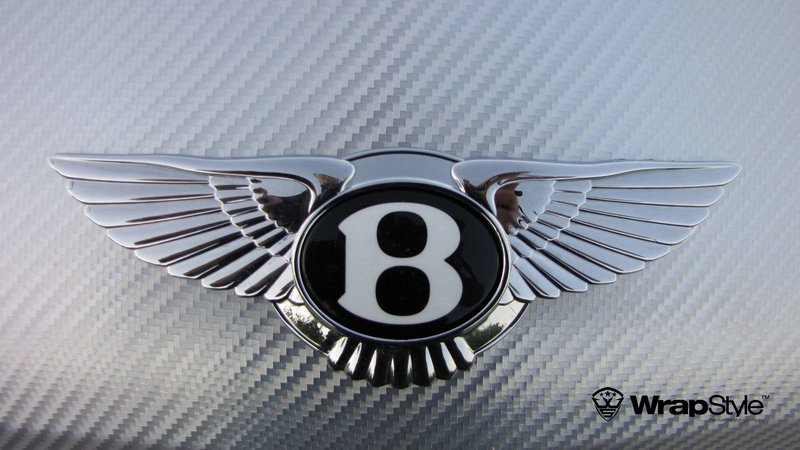 Bentley Continental - Silver Chrome Carbon wrap - img 1 small